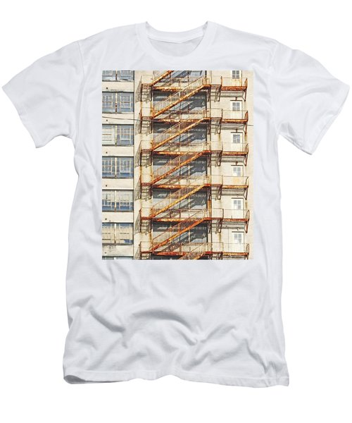 Sears Crosstown Fire Escape Memphis Tn Men's T-Shirt (Athletic Fit)