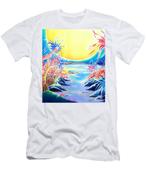 Seashore In The Moonlight Men's T-Shirt (Athletic Fit)