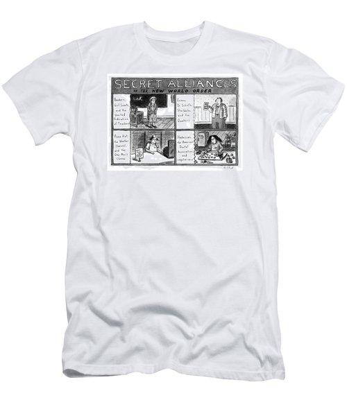 Secret Alliances Of The New World Order Men's T-Shirt (Athletic Fit)