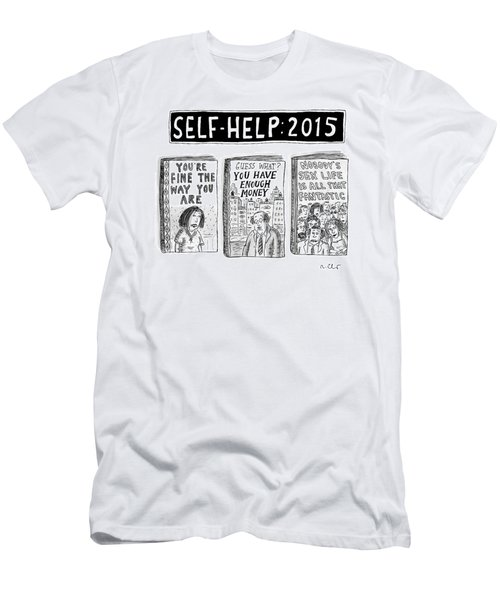 Self Help: 2015 -- Three Books With Titles That Men's T-Shirt (Athletic Fit)