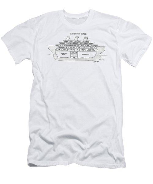 Semi-luxury Liner Men's T-Shirt (Athletic Fit)