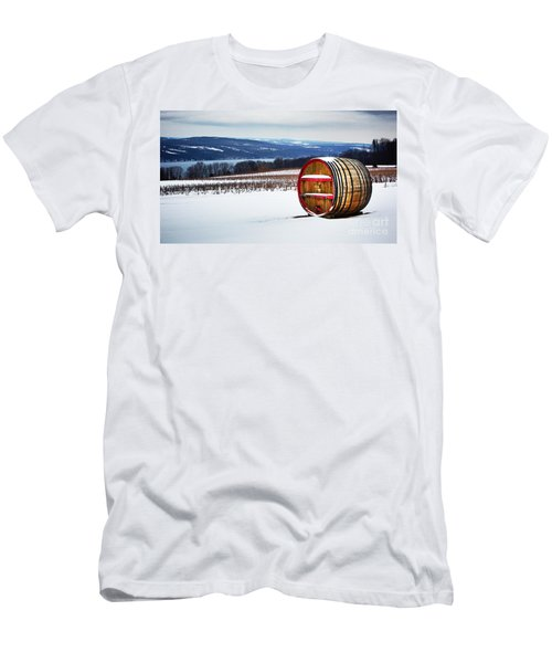 Seneca Lake Winery In Winter Men's T-Shirt (Athletic Fit)