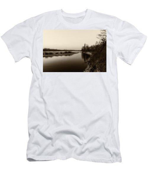 Sepia River Men's T-Shirt (Athletic Fit)