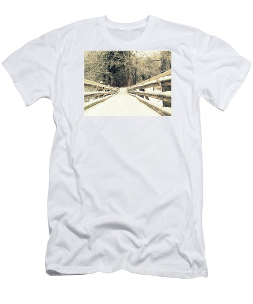 Men's T-Shirt (Slim Fit) featuring the photograph Sepia Winter Land by France Laliberte