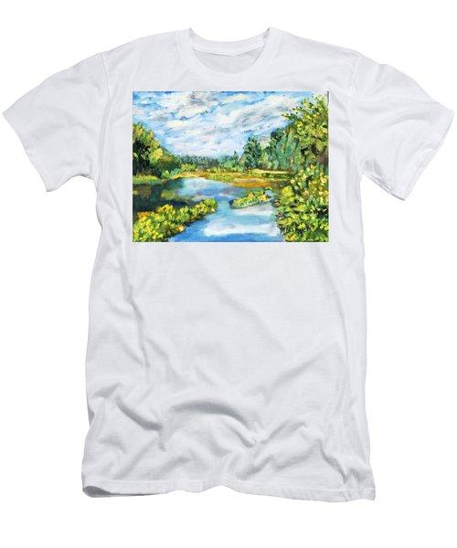 Serene Pond Men's T-Shirt (Athletic Fit)