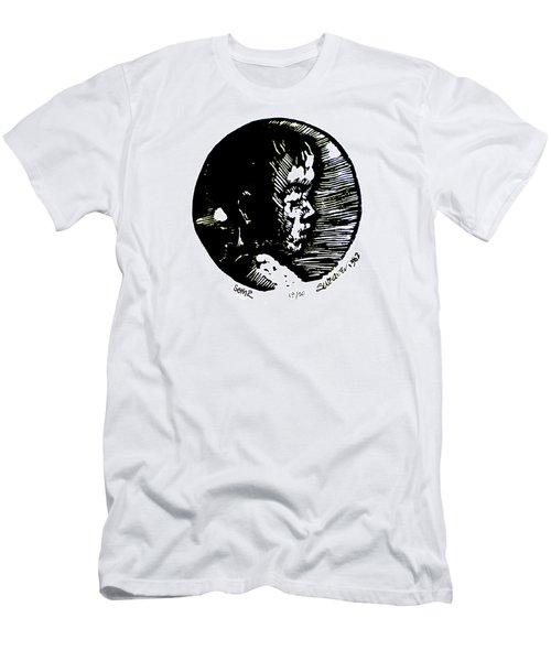 Men's T-Shirt (Slim Fit) featuring the relief Seth 2 by Seth Weaver