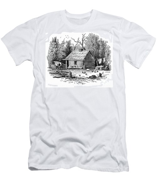 Settler's Log Cabin - 1878 Men's T-Shirt (Athletic Fit)