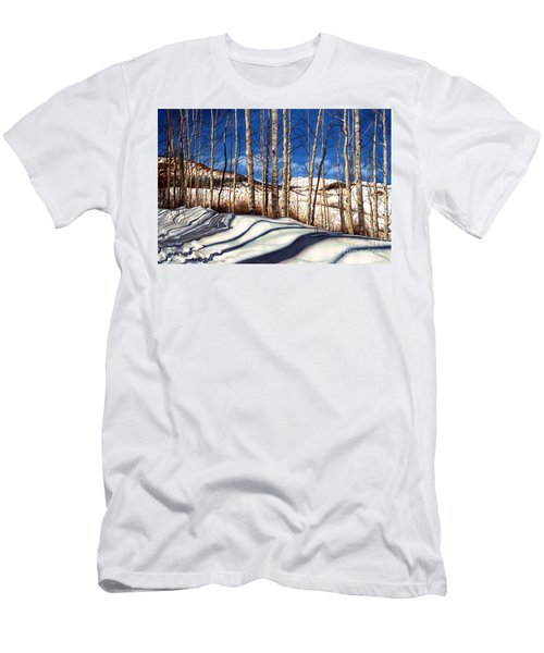 Men's T-Shirt (Slim Fit) featuring the painting Shadow Dance by Barbara Jewell