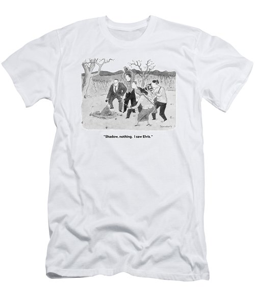 Shadow, Nothing.  I Saw Elvis Men's T-Shirt (Athletic Fit)