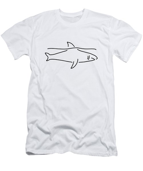 Shark Shark Fish Fin Sea Men's T-Shirt (Athletic Fit)