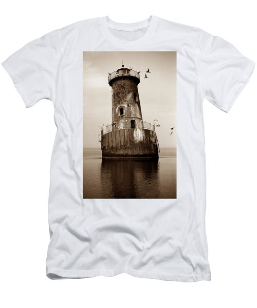 Sharps Island Lighthouse Men's T-Shirt (Athletic Fit)