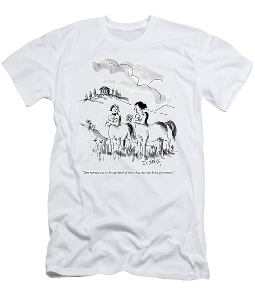 She Turned Out To Be My Kind Of Horse But Men's T-Shirt (Athletic Fit)