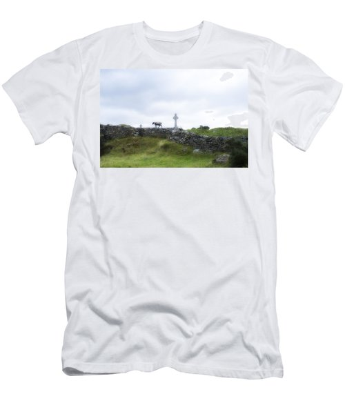 Sheep And Cross Men's T-Shirt (Athletic Fit)