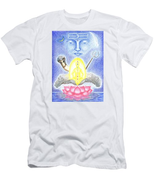 Men's T-Shirt (Slim Fit) featuring the drawing Shiva by Keiko Katsuta