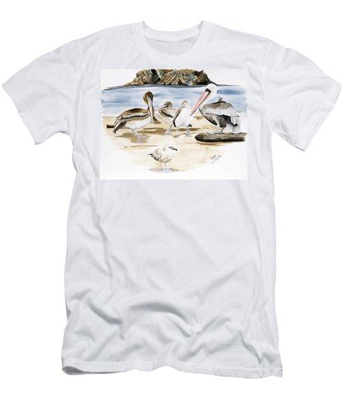 Shore Birds Men's T-Shirt (Athletic Fit)