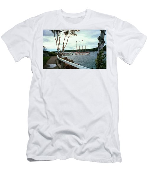 Shore Path In Bar Harbor Maine Men's T-Shirt (Athletic Fit)