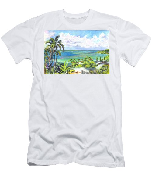 Shores Of Oahu Men's T-Shirt (Athletic Fit)