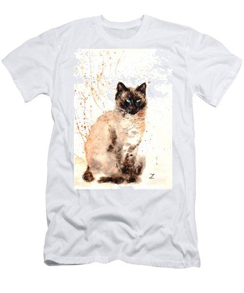 Siamese Beauty Men's T-Shirt (Slim Fit) by Zaira Dzhaubaeva