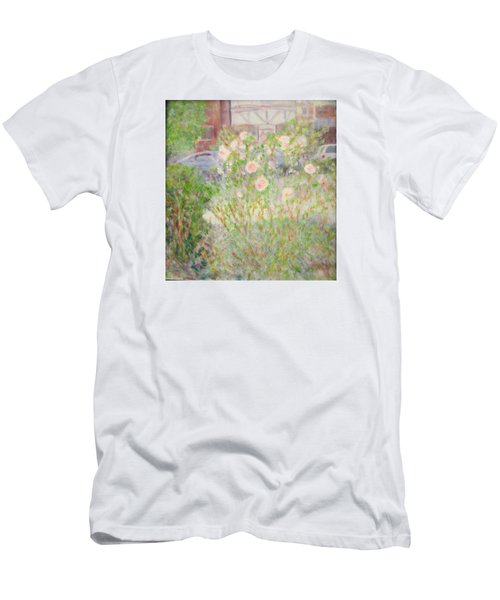 Sidewalk Flowers In Chicago Men's T-Shirt (Athletic Fit)