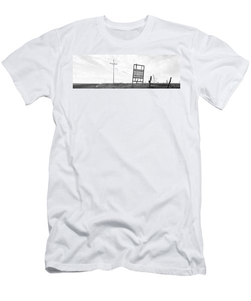 Signboard In The Field, Manhattan Men's T-Shirt (Athletic Fit)