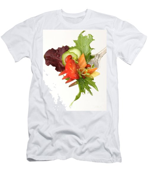 Silver Salad Fork Men's T-Shirt (Athletic Fit)
