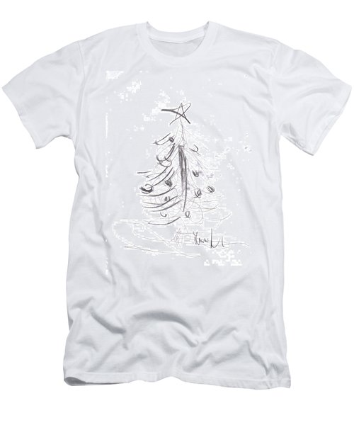 Men's T-Shirt (Athletic Fit) featuring the drawing Simple Love by Laurie Lundquist