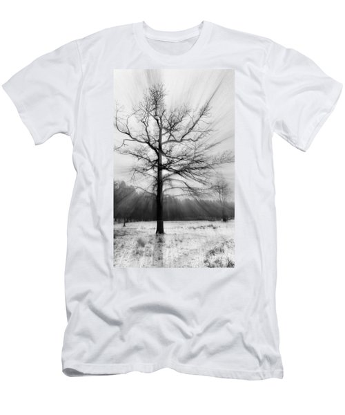 Single Leafless Tree In Winter Forest Men's T-Shirt (Athletic Fit)
