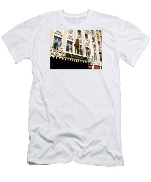Sir Francis Drake Hotel Men's T-Shirt (Slim Fit) by Connie Fox