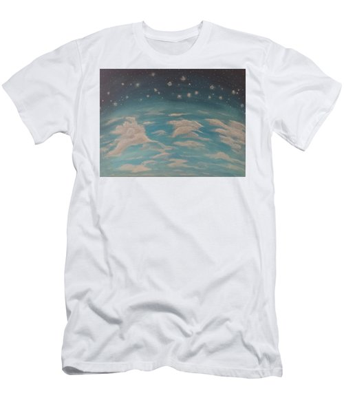 Sitting On Top Of The World Men's T-Shirt (Slim Fit) by Thomasina Durkay