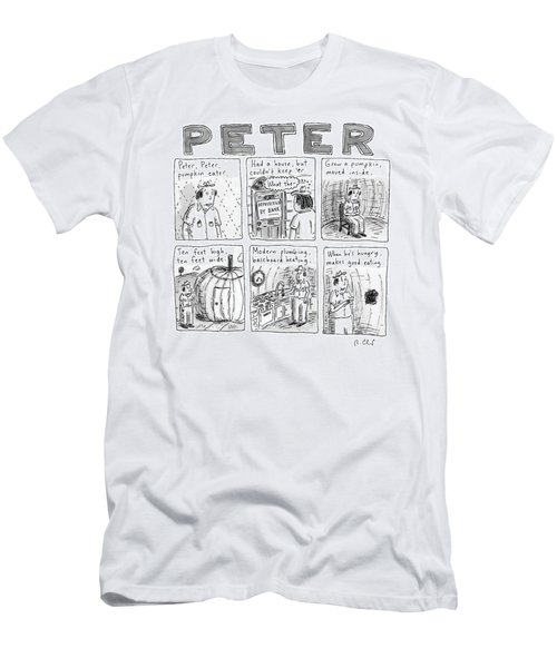 Six Rhyming Panels About A Man Who Moves Men's T-Shirt (Athletic Fit)