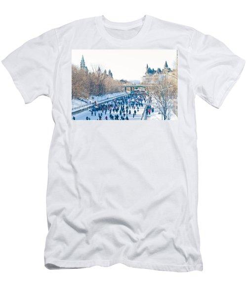 Skating Men's T-Shirt (Slim Fit) by Cheryl Baxter
