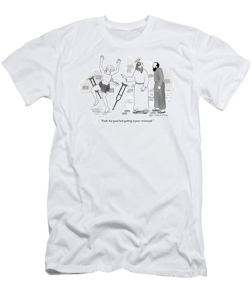 Skeptical Monk Tells An Angel Who Men's T-Shirt (Athletic Fit)