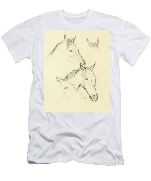Sketch Of A Horse Head Men's T-Shirt (Athletic Fit)