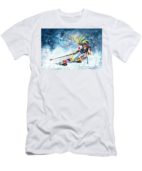 Skiing 03 Men's T-Shirt (Athletic Fit)