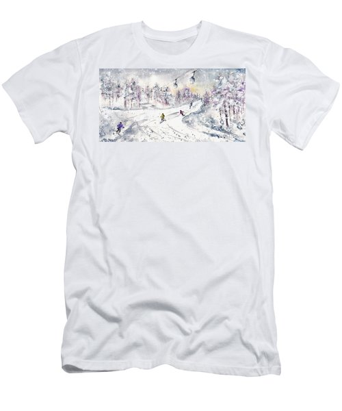 Skiing In The Dolomites In Italy 01 Men's T-Shirt (Athletic Fit)