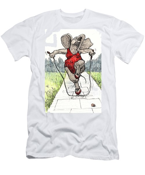 Skipping Rope Men's T-Shirt (Athletic Fit)