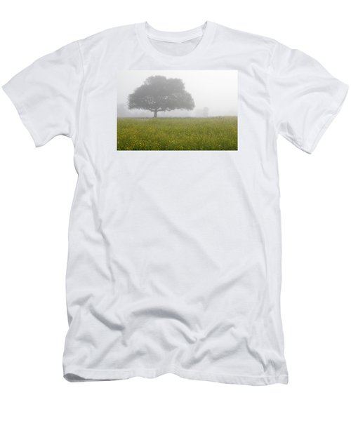 Men's T-Shirt (Slim Fit) featuring the photograph Skc 0056 Tree In Fog by Sunil Kapadia