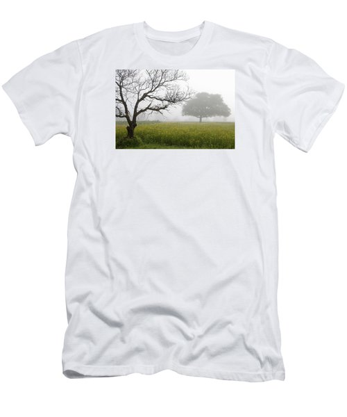 Men's T-Shirt (Slim Fit) featuring the photograph Skc 0058 Contrasty Trees by Sunil Kapadia