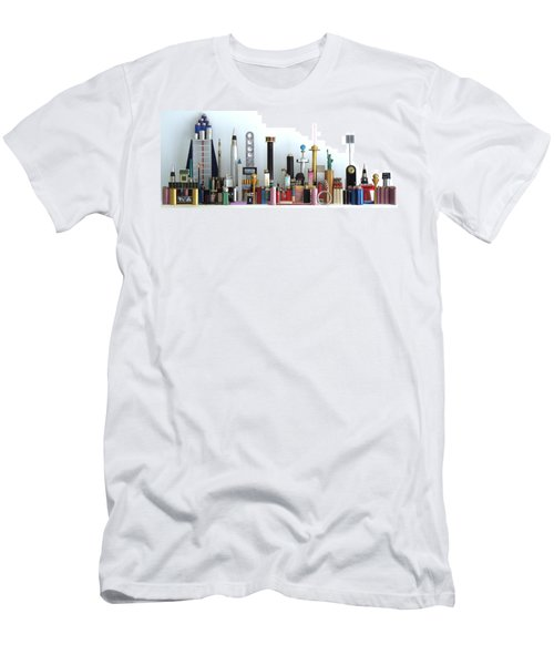 Skyline Sculpture Men's T-Shirt (Athletic Fit)