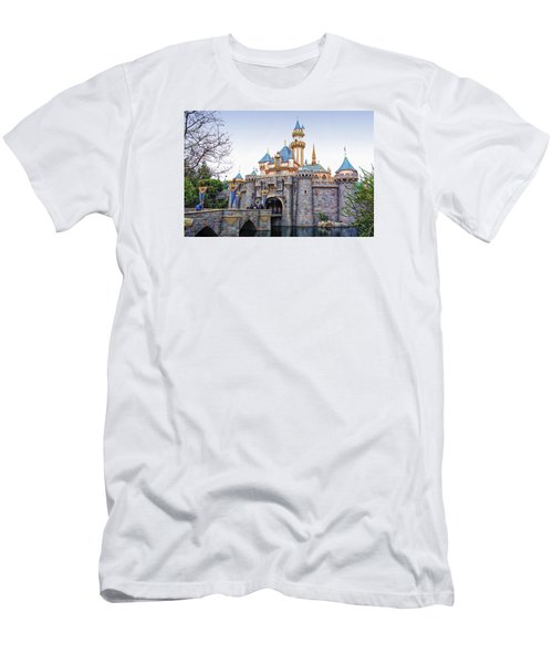 Sleeping Beauty Castle Disneyland Side View Men's T-Shirt (Athletic Fit)