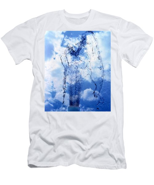 Slow Motion Geyser Of Water Rising Men's T-Shirt (Athletic Fit)