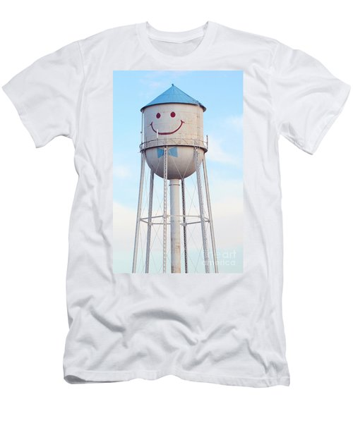 Smiley The Water Tower Men's T-Shirt (Athletic Fit)
