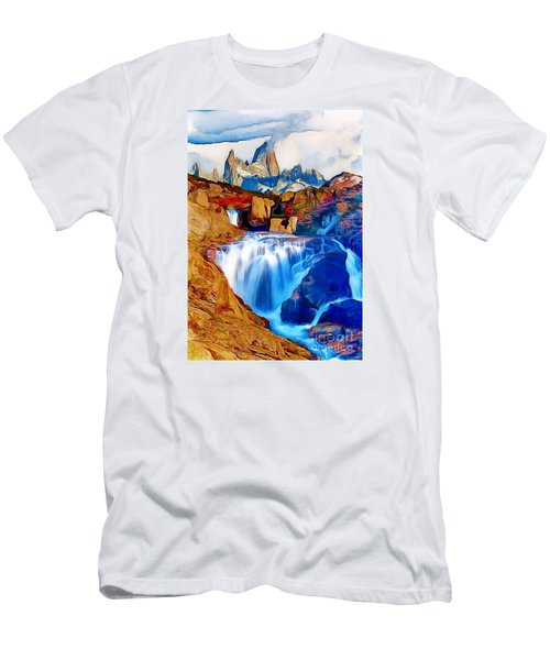 Smokey Mountain View Men's T-Shirt (Athletic Fit)