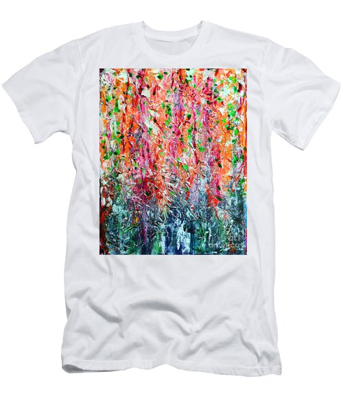 Snapdragons II Men's T-Shirt (Slim Fit) by Alys Caviness-Gober