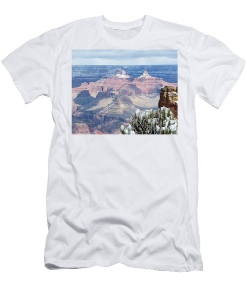Snow At The Grand Canyon Men's T-Shirt (Athletic Fit)