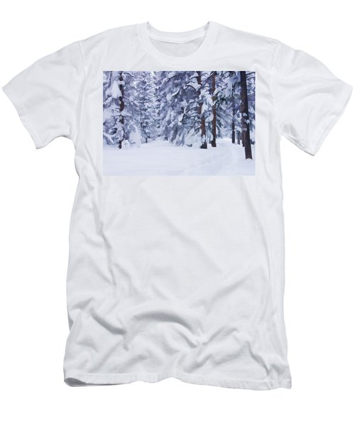Snow-dappled Woods Men's T-Shirt (Athletic Fit)