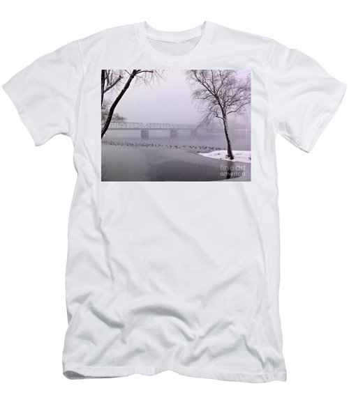 Snow From Lewis Island Bridge Men's T-Shirt (Athletic Fit)