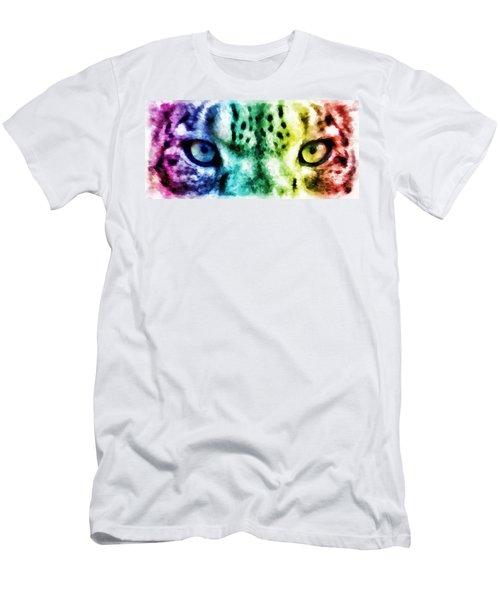 Snow Leopard Eyes 2 Men's T-Shirt (Athletic Fit)