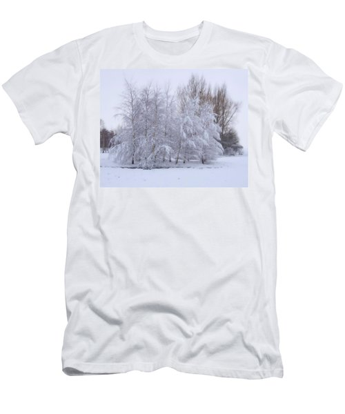 Snow Trees Men's T-Shirt (Athletic Fit)