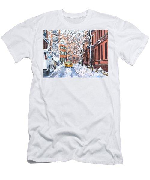 Snow West Village New York City Men's T-Shirt (Athletic Fit)